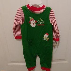 Infant Christmas/Snowman jumper w/ shirt 3-6 mth